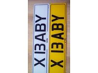 Number plate ( X BABY )