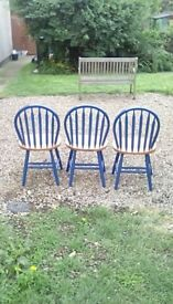 Set of 3 chairs, good condition, £15 .