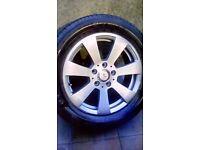 Mercedes alloy wheel c class 2008