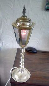 Brass lable lamp