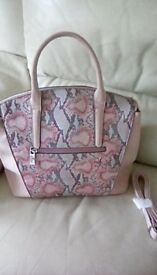 Bessie Handbag in Pastel Pink & Purple Brand New