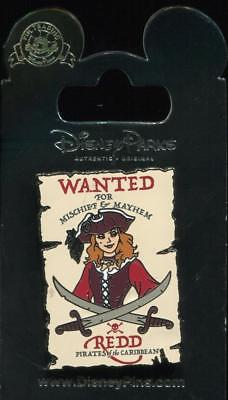 Pirates of the Caribbean Wanted Poster Redd Redhead Disney Pin 130189