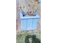 3 outdoor treated wooden planters