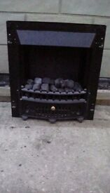 Black Electric Heater / Fireplace Insert