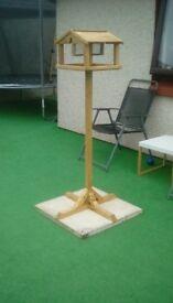 Handmade bird tables with detachable feeder also treated
