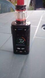 Vape 200watt box mod and prince tank with rba section