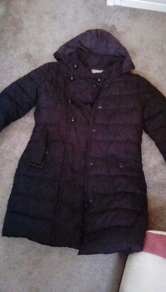 Girls black winter coat from next aged 11, great condition nearly new
