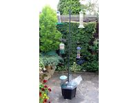 Bird Feeding Station with solid Base and Assorted Bird Feeders & Equipment