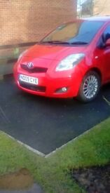 Well maintained Yaris, full mot, alloy wheels, tinted rear windows.