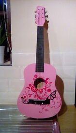 Pink Childrens Guitar
