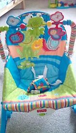 Baby chair with toy bar