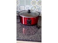 Slow Cooker - Morphy Richards - Red - Sear and Stew Cooker