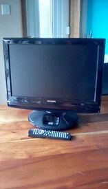 19inch Freeview TV with DVD player and ipod dock