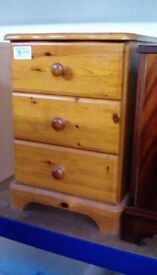 Bedside Cabinet With 3 Drawers #30198 £25