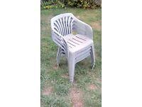 Free - 4 garden chairs