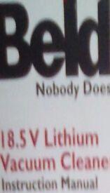 Cordless Beldray 18.5 v Lithium Vacuum Cleaner