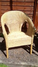 Wicker chair comfy wood conservatory? Good condition