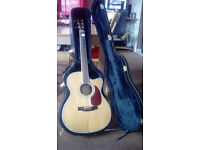 ZAGER ZAD 80 CE SEMI ACOUSTIC GUITAR,WITH HARD CASE