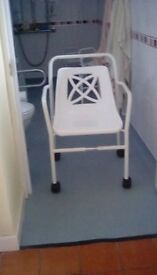 Wheeled Shower Chair large size unused