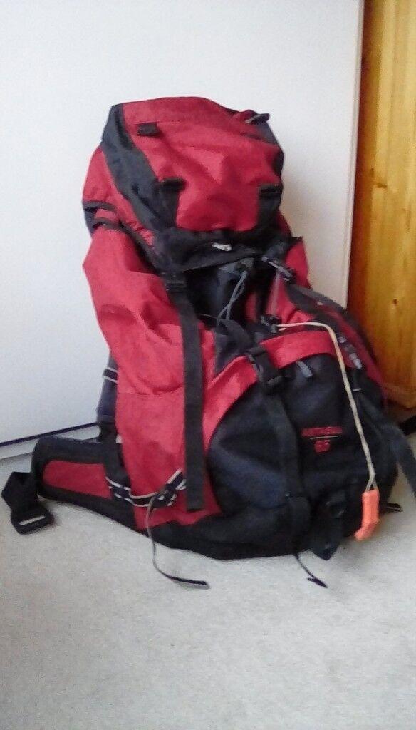 Large Berghaus backpack, used once for Duke of Edinburgh trek, very good condition.