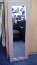Large Mirror in Brown Frame #30666 £15