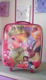 Kids tinkerbell pink suitcase
