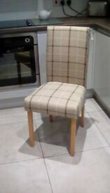 4 BRAND NEW LUXURY UPHOLSTERED DINING CHAIRS