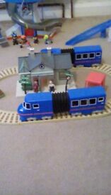 Postman pat track trains and house and figures