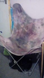 Folding tie dye chair