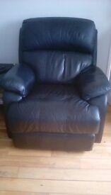 Black Reclining Chairs x 2