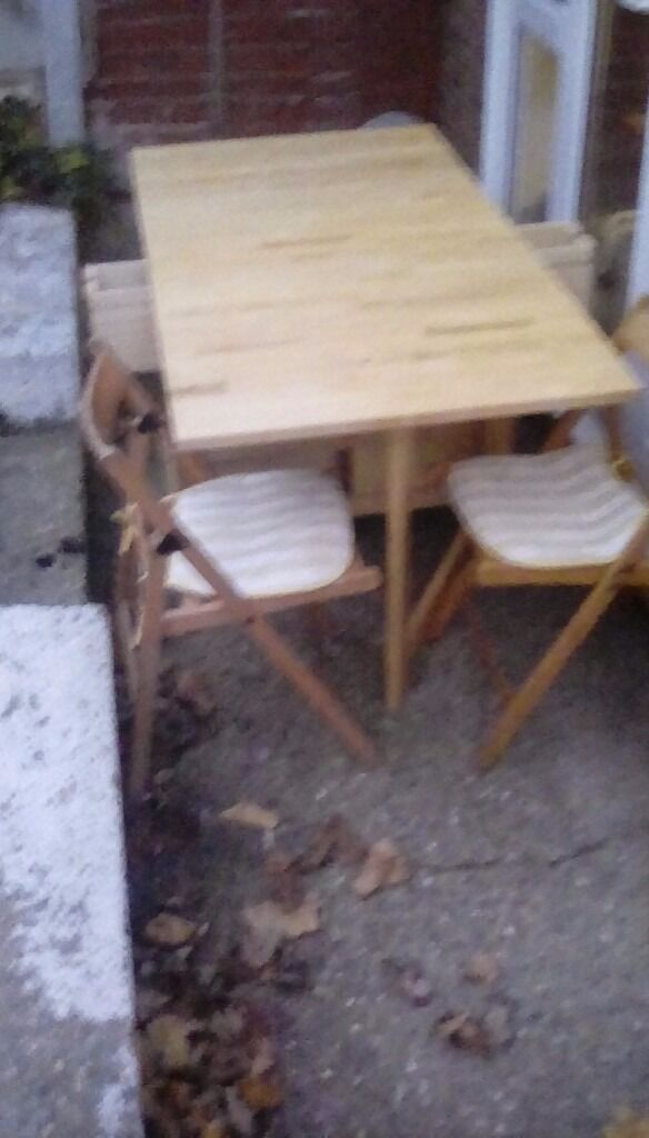 Dining table and chairs, both table and chairs fold down  in Benfleet, Essex  Gumtree