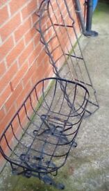 2 x wrought iron planters