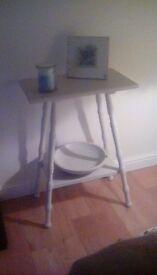 Cream small table