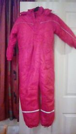 Childrens red snow suit