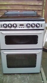 600mm new world new home gas double oven cooker with saftey glass lid