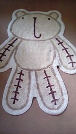 Mothercare Teddy rug and accessories