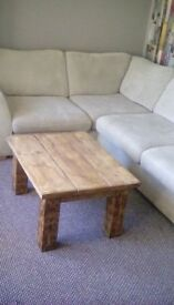 coffee table hand made with reclaimed wood