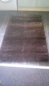 Brown shabby rug