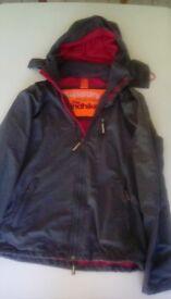 SUPERDRY windhiker grey/red coat medium