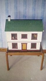 FULLY DECORATED AND FURNISHED DOLLS HOUSE - NEW PRICE