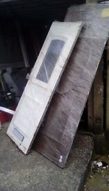 Hi im selling my pvc door panels and doors with windows been sored in garedge some used some new