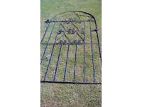 blk wrought iron gate