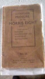 Morris 8 ser. E owners Handbook / Repair manual