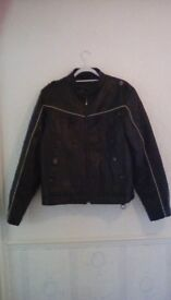 Leather jacket vgc large
