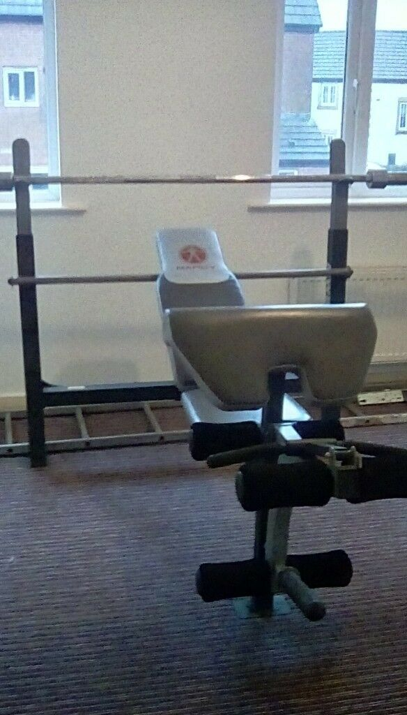 Marcy Weight Bench With Leg Press And Olypmic Bar And Weight 125kg