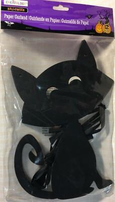 HALLOWEEN Creatology Cardstock Garland Decor Large Black Cat NEW/SEALED!