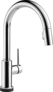 NEW Delta Faucets Delta Faucet 9159T-DST Trinsic Single Handle Pull-Down Kitchen Faucet