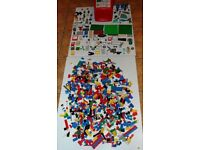 Box full of LEGO over 500 parts includes Basic set and numerous additional sets - see list