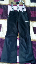 Nevica Vail Ski Pants Ladies Black Size uk 10