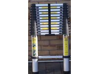 TELESCOPIC 3.87 METRE EXTENDABLE ALLOY LADDER AS NEW £196 IN B&Q, CAN DELIVER